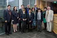 Three of the Bolton School winners are pictured here along with Chief Executive of West Zhongshan Municipality and the Mayor of Bolton