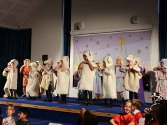 The sheep dance with the shepherds