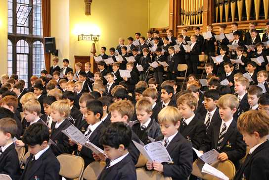 Two hundred Junior Boys filled the night air with uplifting Carol Singing