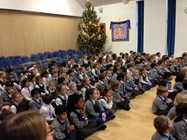 The Beech House children listened attentively to the boys