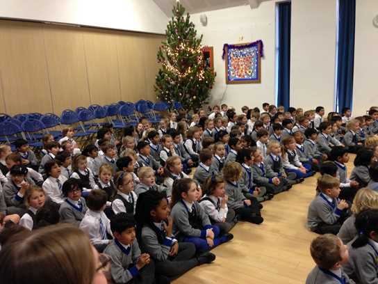 The Beech House children listened attentively to the boys' brass band