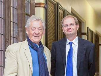 Sir Ian with Headmaster Philip Britton