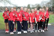 Some of the girls chosen for the Lancashire U15 lacrosse squad