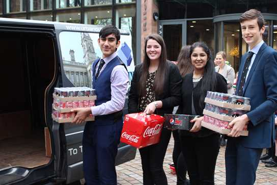 Four key Sixth Form helpers lend a hand