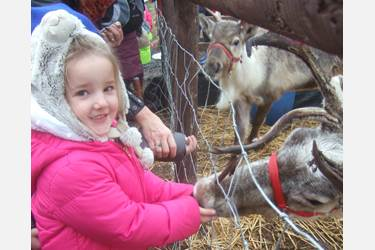 The Elves introduced the children to Santa's reindeer
