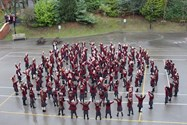 Girls perform a spectacular flashmob send-off dance for Mrs Brierley