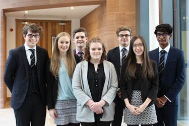 The successful applicants: Alastair, Alexandra, Edward, Eleanor, Dominic, Amy and Giri