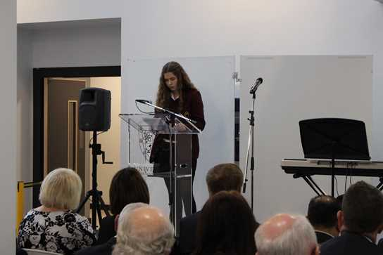 Ella read a captivating extract from her Great Grandmother's war diary