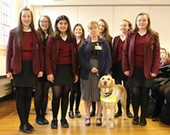 Toni and Quilla with the Year 8 Charity Representatives