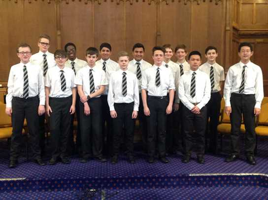 Boys from Years 9 and 10 performed a wide range of music styles on various instruments