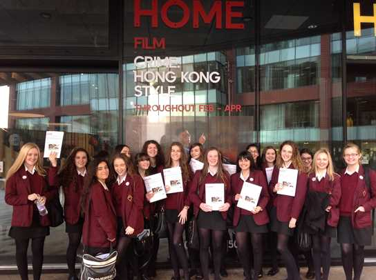 The Year 11 girls outside HOME in Manchester