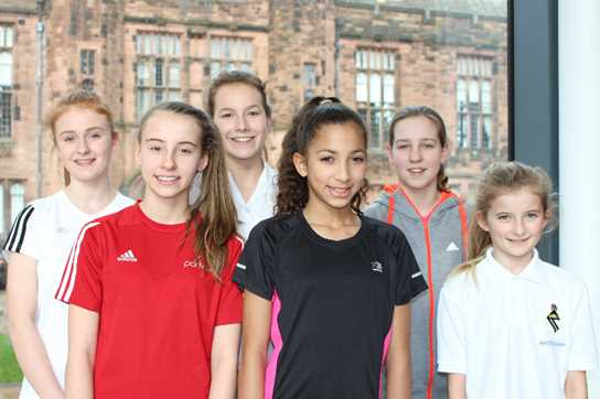 The six Bolton School pupils selected for the Bolton Town Cross Country team