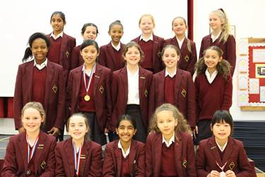 The Year 5 and 6 team that performed outstandingly in the Indoor Sportshall Athletics event