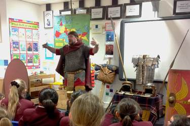 The Centurion talked to Year 4 about many aspects of Roman life and the invasion of Britain