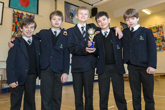 The Year 4 team show off their winning trophy
