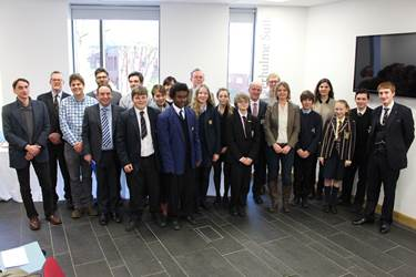 Students and judges at a hotly contested Classics Reading Competition held at Bolton School