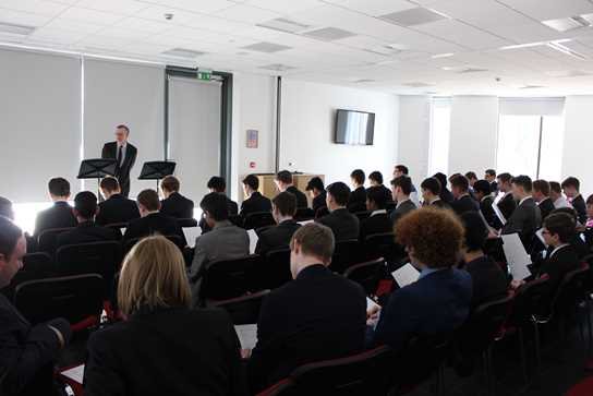 Renowned Classicist Dr John Taylor gave an engaging presentation pre-event to Bolton School boys