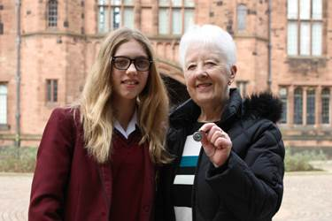 Elly Fraser and Joan Sheridan: both Salford 100s Lifesaving  winners, 68 years apart