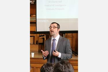 Charlie Ball spoke to Year 12 pupils about graduates' prospects