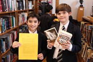 Boys have fun unravelling clues in the Literary Treasure Hunt