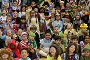 Pupils at Beech House dressed as their favourite book characters