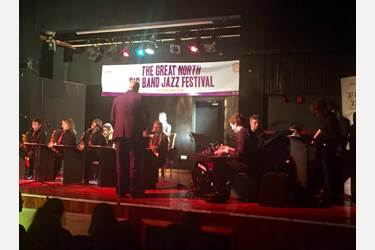 The Bolton School Jazz Band on stage at the Great North Big Band Jazz Festival