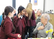 The Year 5 girls and the guests alike enjoyed chatting over afternoon tea