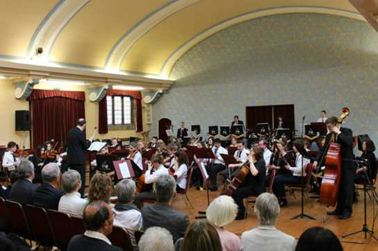 The Senior Orchestra played the 1812 Overture as a finale