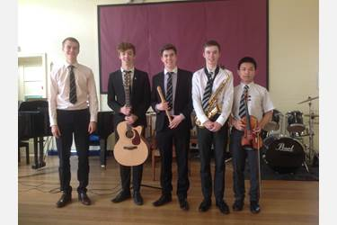 The five award winners who entertained the Park Road boys