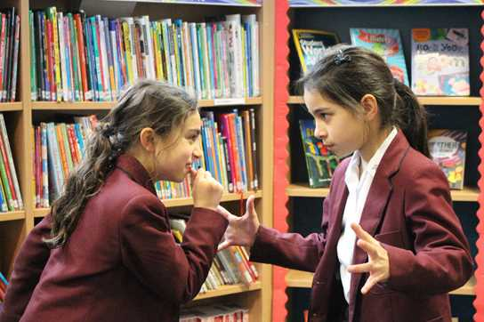Girls test their acting skills with their own Shakespearean insults!