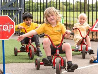 The Nursery Class on trikes