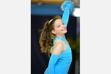 Hollie competing in France