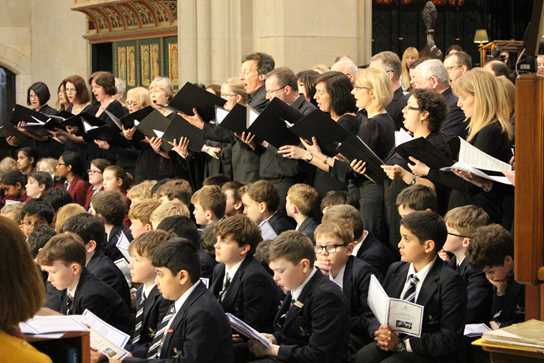 The Friends of Bolton School Choir sang wonderful versions of the difficult pieces, Magnificat and Nunc Dimittis
