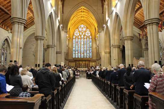 The large Congregation enjoyed a wonderful Evensong at Bolton Parish Church