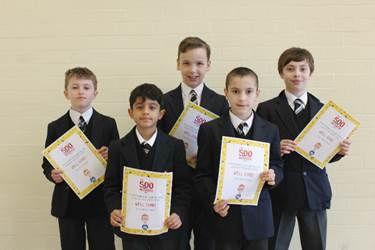 The Junior Boys whose stories have been selected: Adam, Neel, Evan, Zeeshan and Cameron