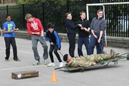 The boys had fun attempting the different challenges