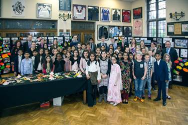 The pupils, staff and volunteers who were involved in this year's SHINE programme gathered for the Celebration Evening