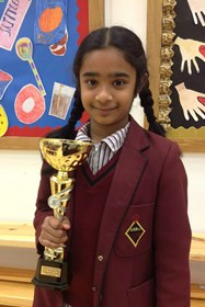 Janani with the Megafinal trophy