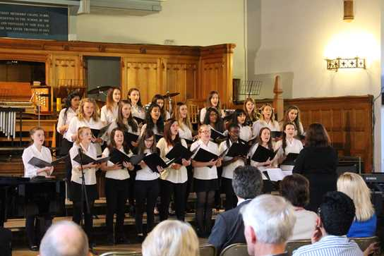 The Senior Choir delivers a breathtaking rendition of Sting's Fields of Gold