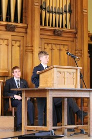 Current pupils talked about the history of the school