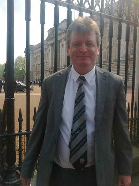 Mr Caspar Joseph represented the Boys' Division at Buckingham Palace