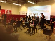 The School Jazz Band played a variety of contrasting and popular pieces