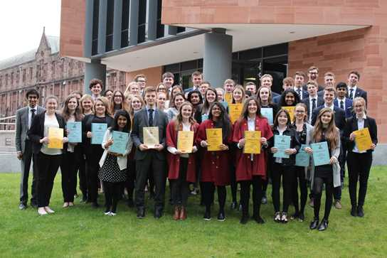 Year 12 students celebrate having contributed over 11,000 hours of volunteering and support in the local community
