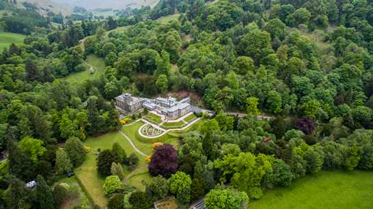 The Hall is set in a stunning location on the shores of Lake Ullswater