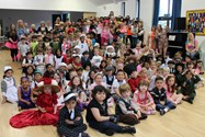 Beech House represented the past century with their costumes