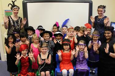The Nursery Class in 1920s outfits