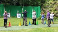 Families enjoyed a range of supervised activities including archery