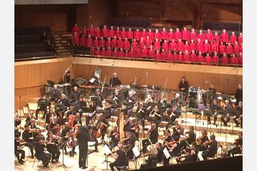 The Halle's Children's Choir performed with the Halle Orchestra