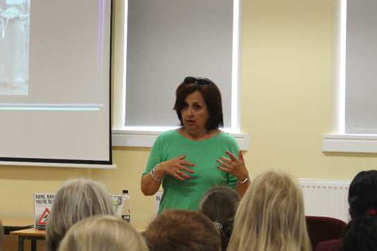 '13 Hours' author Narinder Dhami holding a workshop for pupils