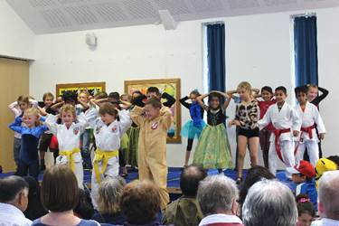 Each Year 2 class performed an ensemble dance